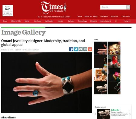 Full article at http://www.timesofoman.com/article/68561/Image-Gallery/Omani-jewellery-designer:-Modernity-tradition-and-global-appeal