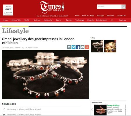 Full article at http://www.timesofoman.com/article/68562/Lifestyle/Omani-jewellery-designer:-Modernity-tradition-and-global-appeal