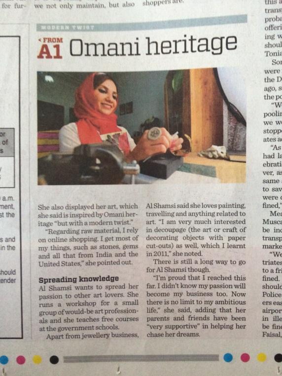 Times of Oman, December 2015